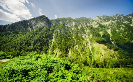 hill range: Beautiful mountains landscape of Austria