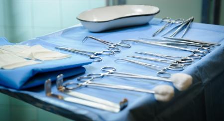 Chirurgische Werkzeuge kit Standard-Bild