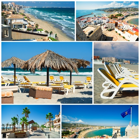 beaches of spain: Touristic places of Spain,collage