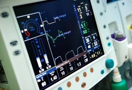 emergencia medica: Equipo de ventilaci�n mec�nica Foto de archivo