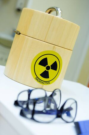 Container for the radioactive isotopes photo