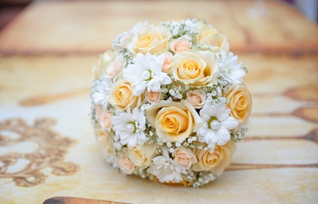 mixed marriage: Beautiful bridal bouquet Stock Photo