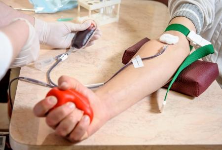 hematology: Close-up  photo of blood donation