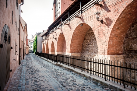 Ancient fortification wall. Old Riga,Latvia photo