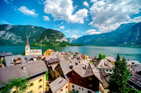 View of Hallstatt. Alpine village in Austria photo