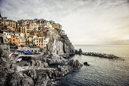 View of Manarola  Manarola is a small town in the province of La Spezia, Liguria, northern Italy  Stock Photo - 17093492