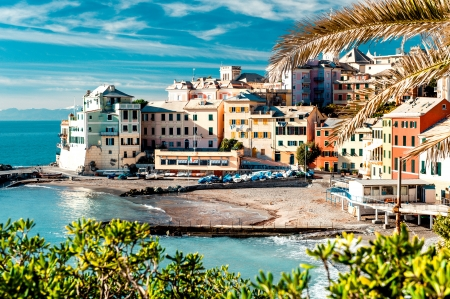 View of Bogliasco. Bogliasco is a ancient fishing village in Italy Stock Photo