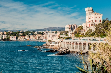 genoa: View of  Genoa, port city in northern Italy