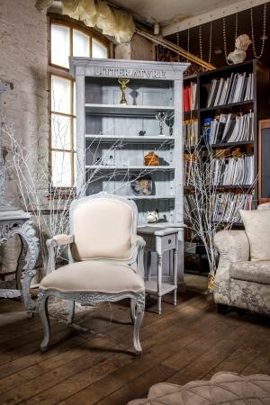 Luxe vintage interieur van zitkamer