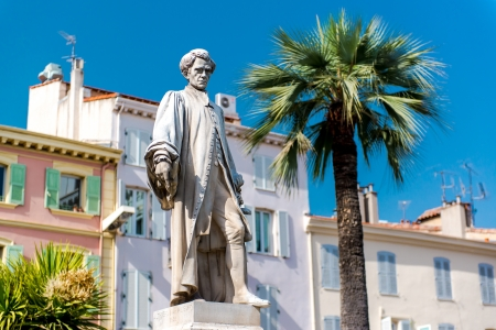 Statue Lord Brougham in Cannes, France photo