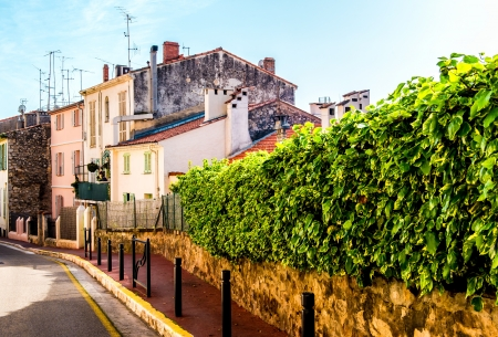 Typical residential houses in Cannes, France photo