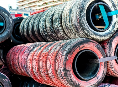 Old tires background Stock Photo - 19654891