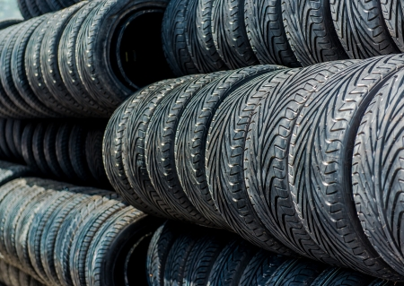 Old tires background photo