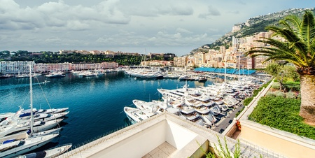 mediterranean houses: View of Monaco harbor