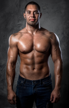 Muscular handsome young man Stock Photo - 20834467