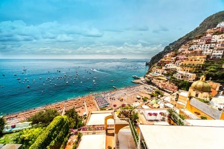 positano: Amazing Amalfi coast. Positano, Italy Stock Photo