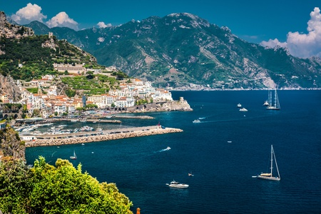 View of Amalfi. Amalfi is a charming, peaceful resort town on the scenic Amalfi Coast of Italy. photo
