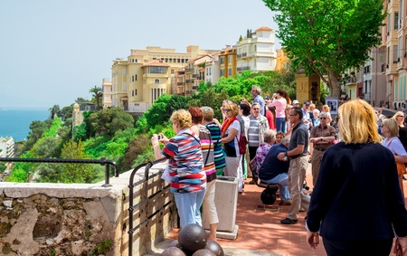 MONACO - MAY 02: Visitors at Prince's Palace of Monaco on May 02 2013. The Prince's Palace of Monaco is the official residence of the Prince of Monaco, the most popular place. Stock Photo - 21475227