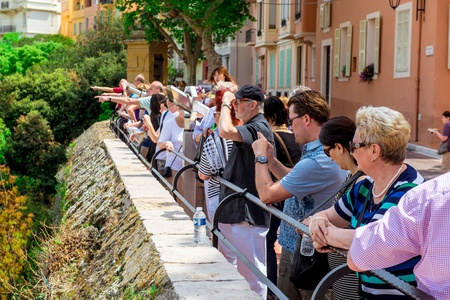 MONACO - MAY 02: Visitors at Prince's Palace of Monaco on May 02 2013. The Prince's Palace of Monaco is the official residence of the Prince of Monaco, the most popular place. Stock Photo - 21475228