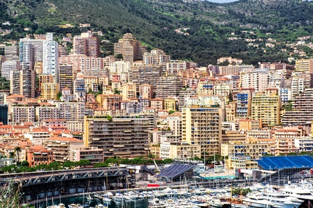 Amazing view of Monaco city photo