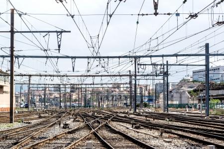 st charles: Marsiglia stazione ferroviaria di St. Charles, Francia Archivio Fotografico