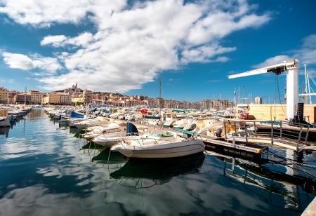 Oude haven van Marseille, Frankrijk Stockfoto
