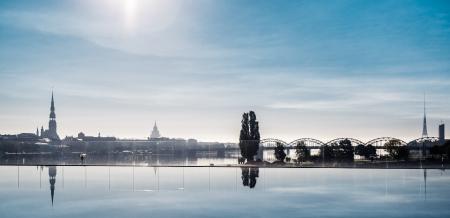 latvia: Beautiful view of Riga city, Latvia