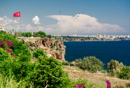 Antalya city  It is biggest international sea resort in Turkey photo