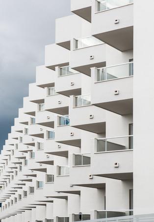 White modern house in Ibiza. Spain Stock Photo - 23123259