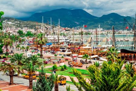 turkey beach: View of Alanya Cruise Port, Turkey