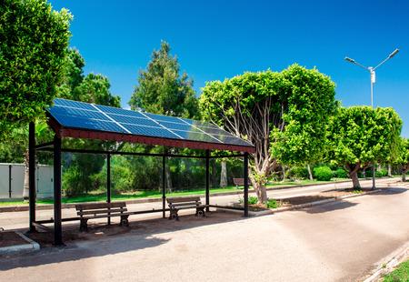 solar array: Eco-friendly solar bus stop