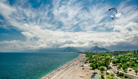 Panoramic view of Antalya city  It is biggest international sea resort in Turkey