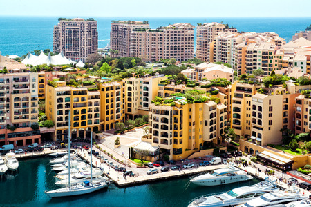 View of Fontvieille, Monaco photo