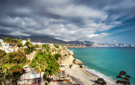 Calahonda beach, located in the centre of Nerja town  Spain photo