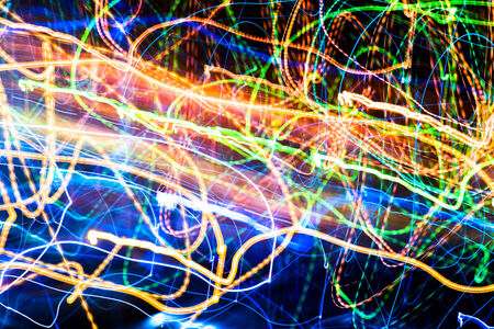 Abstract multicolored blurred lights background photo