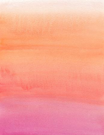 Watercolor painting. Beige, orange, pink, gradient photo