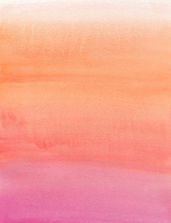 Watercolor painting. Beige, orange, pink, gradient Stock Photo