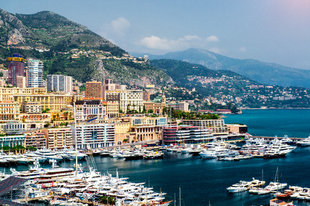 Cityscape and harbour of Monte Carlo  Principality of Monaco photo