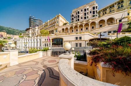 Empty street view of Monaco Editorial