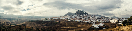 Panoramic view of White village and surrounding countryside  Costa del Sol, Andalucia, Spain photo