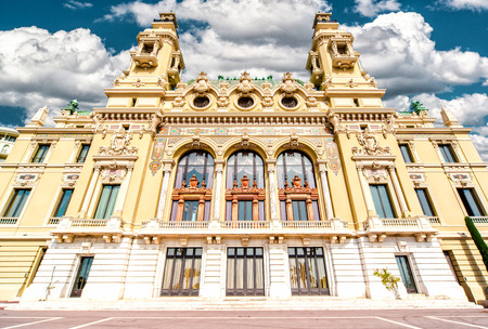 Facade of Monte-Carlo Casino and Opera House, Monaco