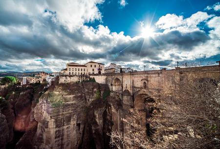 nuevo: The Puente Nuevo bridge and Picturesque view of Ronda city  Province of Malaga, Andalusia, Spain