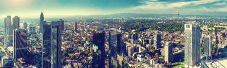 Panoramic view of Frankfurt city, Germany photo