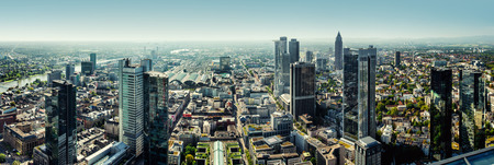 Panoramic view of Frankfurt city, Germany