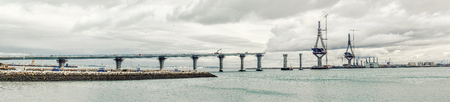 Panoramic view of La Pepa Bridge construction  Cadiz city, southwestern Spain photo