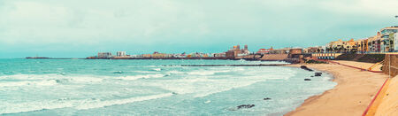 andalusia: Panoramic view of Cadiz coastline  Southwestern Spain