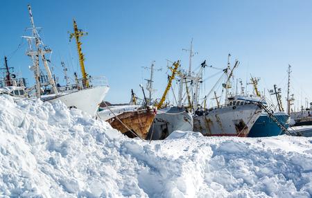 Ship graveyard  Petropavlovsk-Kamchatsky, Kamchatka, Russia