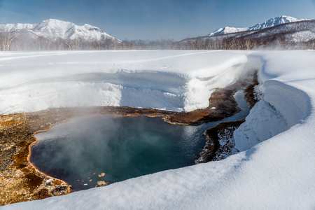 the far east: Griffin Ivanova, hot spring in the Nalichevo National Park  Unesco World Heritage site  Kamchatka, Far East  Russia