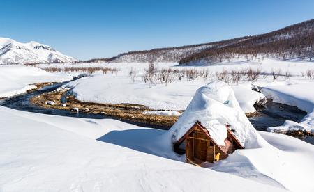 far east: Aguas termales en el Parque Nacional Nalichevo. Kamchatka, Extremo Oriente de Rusia