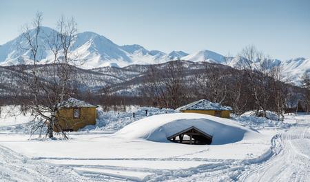 snowbanks: Nalychevo Nature Park  Kamchatka, Far East  Russia